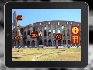 Screenshot from ARmedia Augmented Reality 3D Tracker (Augmenting Rome Coliseum), https://youtu.be/WOVjISxlhpU